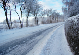 Опасные условия на дорогах объявлены в пяти уездах Эстонии