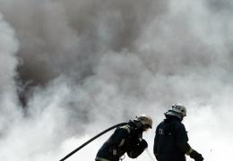 Ядовитый дым от горящей свалки Уйкала идет в сторону Кохтла-Ярве и Йыхви