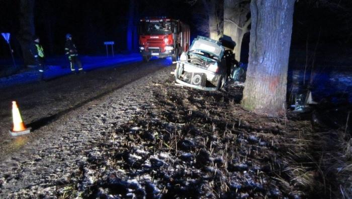 В Пылвамаа в ДТП погиб 21-летний мужчина