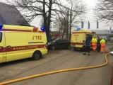 Пожар в Йыхви: владельца частного дома доставили в больницу, спасатель получил легкую травму
