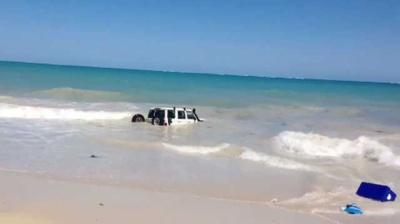Городской лихач пытался скрыться от полиции в океане