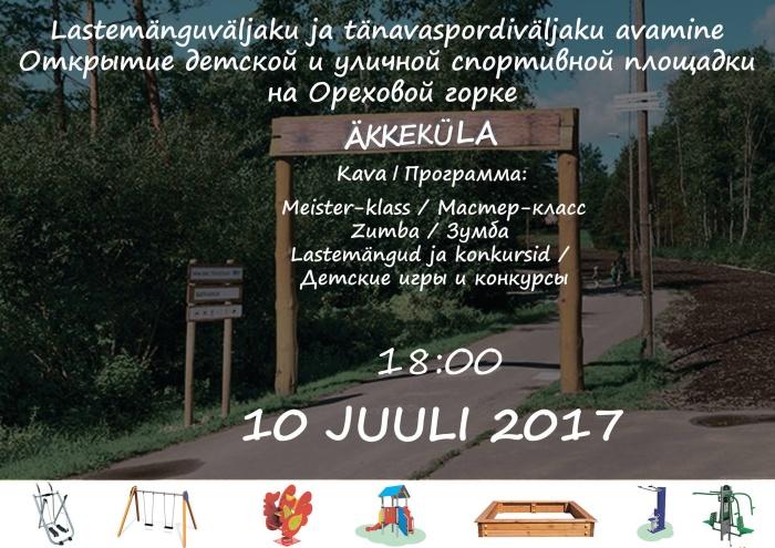 10 июля на Ореховой горке пройдет открытие детской и спортивных площадок