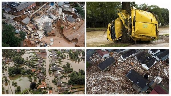 Подробный фоторепортаж о наводнении в Германии и Бельгии