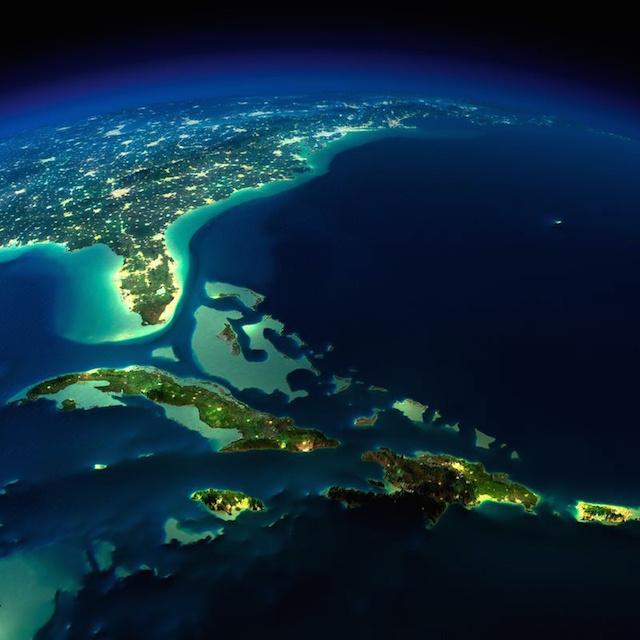 Ночные фото Земли, сделанные из космоса