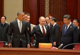 На саммите АТЭС Путин похлопал Обаму по плечу и предостерег страны Азиатско-Тихоокеанского региона от раскола
