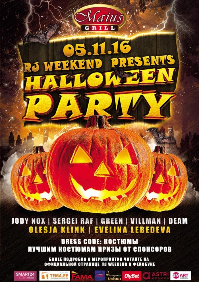 5 ноября RJ Weekend проводит в Нарве костюмированную вечеринку «Halloween Party 2016