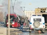 В Казани дотла сгорел трамвай