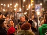 Новогоднее факельное шествие в Эдинбурге