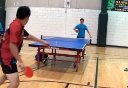 Самый крутой обманный трюк от мастера настольного тенниса