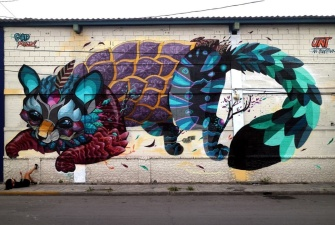 В Нарве в рамках фестиваля Stencibility Центр культуры украсят настенным рисунком