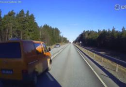 ВИДЕО: самые опасные обгоны происходят по пятницам на шоссе Таллинн-Пярну и Таллинн-Тарту