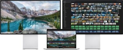 """MacBook Pro 16"""" одновременно может выводить изображение на 2 дисплея 6K, четыре 4K или один 5K и три 4K"""