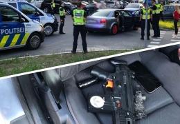 Полиция не оценила шутку: в Ласнамяэ женщина из окна автомобиля размахивала автоматом
