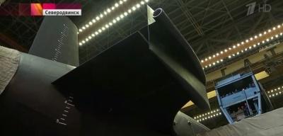 Головной подводный ракетоносец проекта «Борей-А» спущен на воду в Северодвинске
