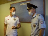 Торжественное открытие отделения полиции в контейнере из профнастила в Вологодской области