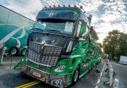 В Таллинн на Певческое поле съехались тюнингованные грузовики со всей Европы