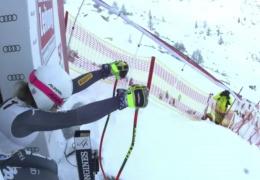 YouTube ВИДЕО: итальянская горнолыжница вылетела с трассы на скорости 100 км/ч