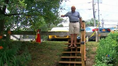 Канадский пенсионер построил ступеньки, на которые власти хотели потратить 150 000 долларов