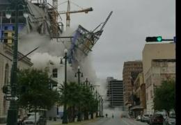 В Новом Орлеане обрушился строящийся отель