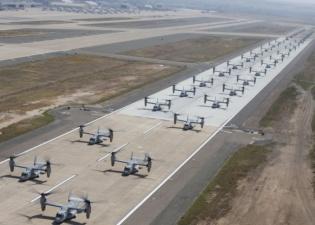 Военные США показали одновременный взлет конвертопланов