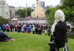 Площадь Вабадузе во время мессы Папы Римского вместит 10 000 человек
