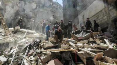 Шесть мирных жителей пострадали во время авиаудара коалиции по базе в Хомсе