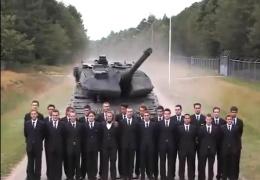 Экстренное торможение танка