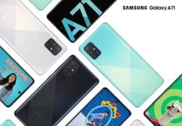 Анонсирован Samsung Galaxy A71: 64 Мп основная камера и батарея 4500 мАч с быстрой зарядкой 25 Вт