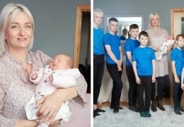 В Британии мать десяти мальчиков впервые родила девочку