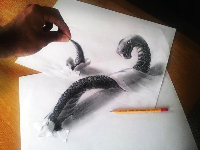 Поражающая реальность трехмерных рисунков