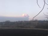 Под Харьковом горит крупнейший склад боеприпасов