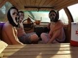Горячие эстонские парни устроили в машине сауну