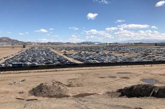 Кладбище новых Volkswagen в пустыне