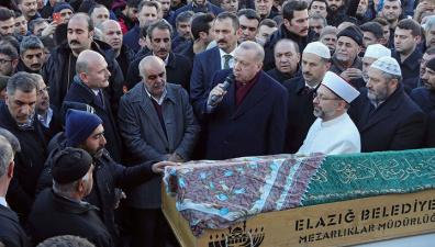 Эрдоган побывал в пострадавшей от землетрясения провинции Элязыг