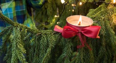 В Нарве зажгли первую свечу Адвента