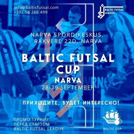 28 и 29 сентября в Нарве пройдет международный турнир по футзалу Baltic Futsal Cup