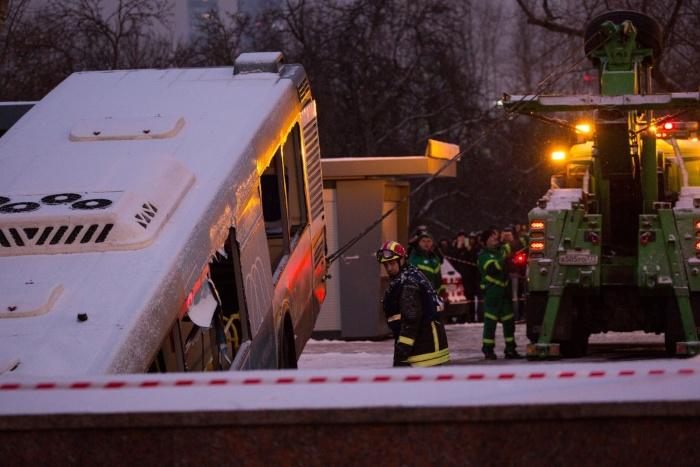 В Москве автобус заехал в подземный переход: погибли четверо