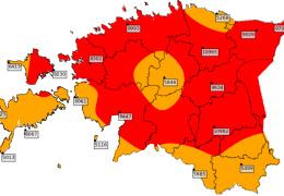 Уровень пожароопасности позволяет запретить посещение лесов во многих районах Эстонии