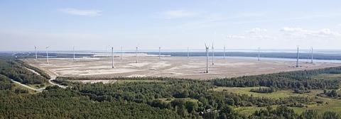 Концерн Eesti Energia открыл парк ветрогенераторов на бывшем золоотвале