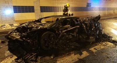 Суперкар Lamborghini Aventador Carbonado от Mansory сгорел в Праге