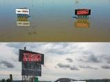 Трасса для дрэг-рейсинга в Айове до и после разлива Миссури