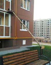0 Персональный вход для кота в квартиру на втором этаже