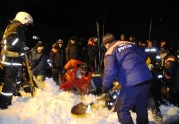 Заполярный город Кировск накрыло снежной лавиной