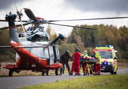 Пострадавших в ДТП начнут доставлять в больницу вертолетом