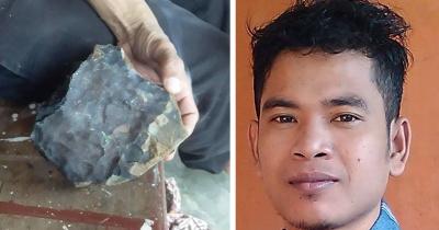 В Индонезии метеорит проломил крышу дома и сделал его владельца миллионером