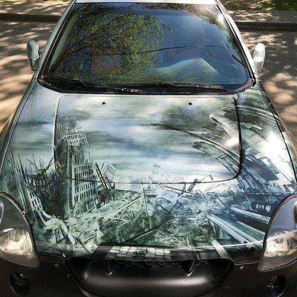 20 отличных рисунков на автомобилях