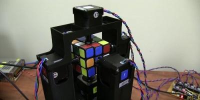 Сборка кубика рубика за секунду