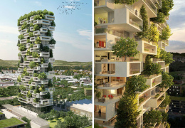 «Кедровая» башня с настоящими деревьями: новая экологическая концепция