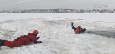 Нарвские пограничники рассказали школьникам об опасностях выхода на лед