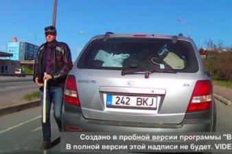 Как в кино: в Таллинне мужчина «подрезал» другого водителя и угрожал ему битой